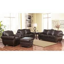 Overstock Armchair Abbyson Richfield 4 Piece Premium Top Grain Leather Sofa Loveseat