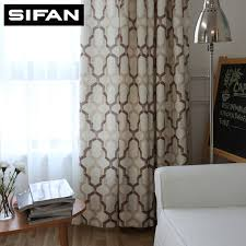 Geometric Pattern Curtains Japan Style Geometric Pattern Printed Linen Curtains For Bedroom