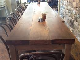 chunky farmhouse table by rabbit trap timber handkrafted
