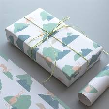 christmas kraft wrapping paper birthday present elk wrapping gift wrap artware packing package