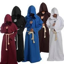 priest halloween costume medieval friar costume vintage renaissance priest monk cowl robes