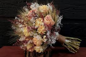 Dried Flower Arrangements Romantic Rustic Wedding Bouquet Large Bridal Bouquet Farmhouse