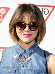 light and wispy bob haircuts katharine mcphee choppy short ombre bob cut with wispy bangs