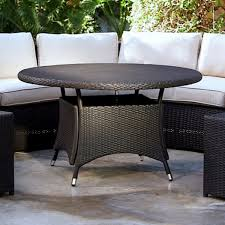 all weather dining table belham living meridian all weather wicker round outdoor patio dining