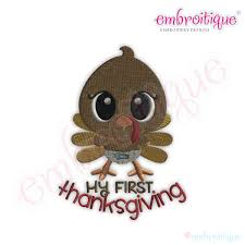 embroitique my thanksgiving turkey fill stitch embroidery design