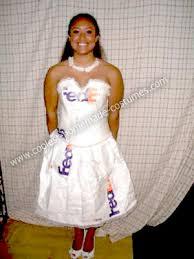 Halloween Costume Wedding Dress Coolest Homemade Fedex Mail Order Bride Costume Bride Costume