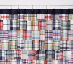 Pottery Barn Madras Curtains Madras Shower Curtain Pottery Barn
