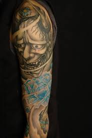 another best hannya mask tattoo design on arm goluputtar com