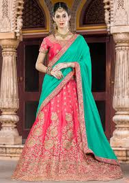 bridal wear pink bridal wear lehenga choli set