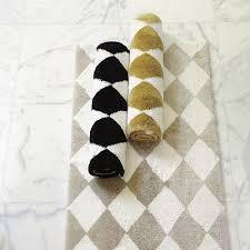 Black And White Bathroom Rugs Black White Rug I Ballard Designs