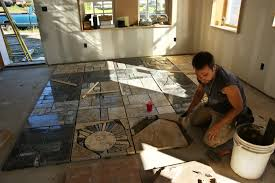flooring how to lay granite tile floor with small glass windows