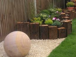 Railway Sleepers Garden Ideas Wonderful Reclaimed Railway Sleepers 2 Level Lawn Almost