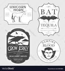 funny vintage halloween potion labels royalty free vector