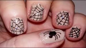 halloween spider web nail art youtube