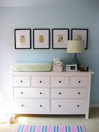 Nursery Changing Table Dresser Hemnes Dresser As Changing Table Nursery Ideas Pinterest
