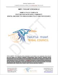 sample contract template first nation on reserve community pet