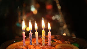 birthday cake with candle light stock footage video 5857430