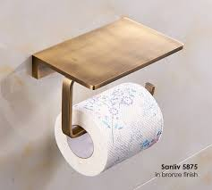 table paper holder solid brass hotel bathroom single roll toilet paper holder with