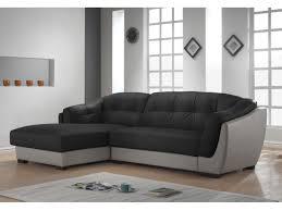 canapé angle cuir gris d angle cuir solfege bicolore noir et gris angle gauche