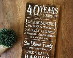 40th anniversary gifts for parents 40th anniversary gift for parents etsy