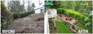 Landscape Design Backyard by Backyards Impressive Sloped Backyard Landscaping Sloped Front