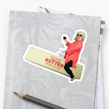 Paula Deen Butter Meme - paula deen riding butter stickers by scotter1995 redbubble