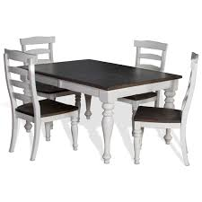 5 piece extension dining table set with ladderback chairs by sunny
