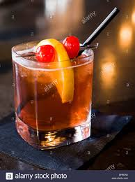 manhattan drink illustration brandy old fashioned cocktail served at a bar in milwaukee wi