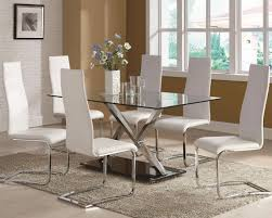 Round Glass Kitchen Table Chair Fascinating Glass Dining Table And Chairs Round Glass