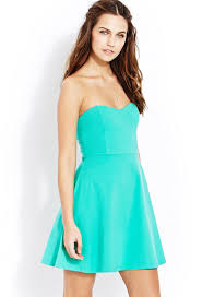 forever 21 sweet thing tube dress in green lyst