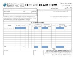 Personal Expense Report Template by 4 Expense Claim Form Templates Excel Xlts