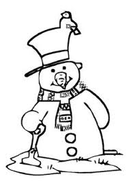 lots free christmas snowman coloring pages