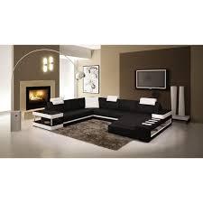 canapé m canapé d angle panoramique en cuir noir et blanc droit