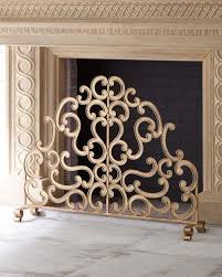 Hand Painted Fireplace Screens - hand painted iron fireplace screen neiman marcus