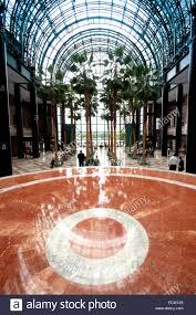 usa new york city manhattan the winter garden atrium pavillon