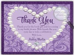 bridal shower thank you cards diamonds pearls bridal shower thank you card di 1500ty