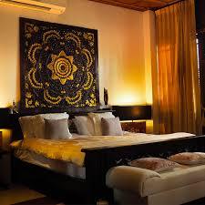 carved lotus wall art panel bed headboard siam sawadee