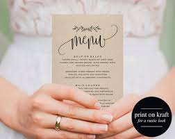 printable wedding menu wedding menu template menu cards menu