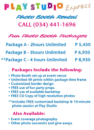 photo booth rental prices photo booth rental bacolod bacolod photo booth rates packages