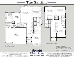 Stone Mansion Floor Plans Silver Stone Homes Inc The Santino