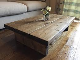 handmade coffee table solid rustic handmade pine coffee table finished in a chunky