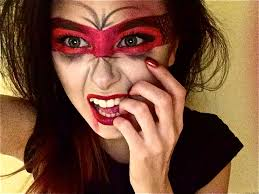 Girls Halloween Makeup Here U0027s My Red Devil Masked Vombie Makeup Mashup Happy Halloween