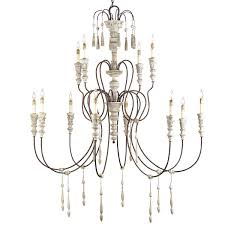 White Shabby Chic Chandelier by Large French Shabby Chic Chandelier