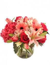 embraceable pink floral design valentine u0027s day flower shop network