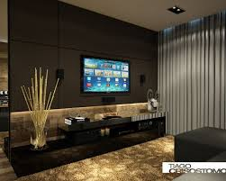Best Idéias Home Theater Images On Pinterest Living Room Tv - Living room with home theater design