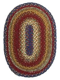 Braided Throw Rugs Log Cabin Step Cotton Braided Rug Cottage Home