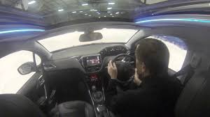 peugeot 2008 crossover peugeot 2008 crossover climbs the tamworth snowdome youtube