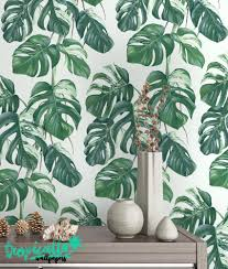 Peel And Stick Removable Wallpaper monstera leaves print wallpaper removable wallpaper