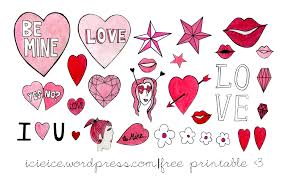 printable stickers valentines stickers icieice