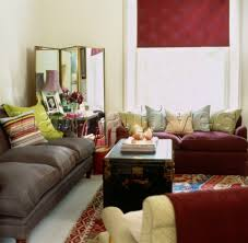 Two Different Sofas In Living Room Jb071 04c Colourful Accessories In Living Room With Tw